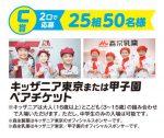 C賞 キッザニア東京または甲子園ペアチケット